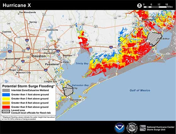 2016 Hurricane Surge Watch/Warnings