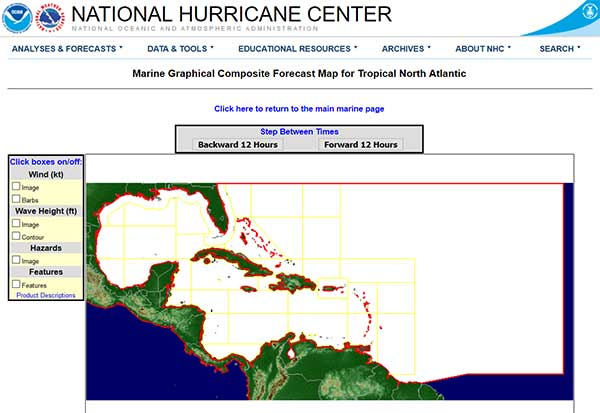 Marine Graphical Composite Forecast Map